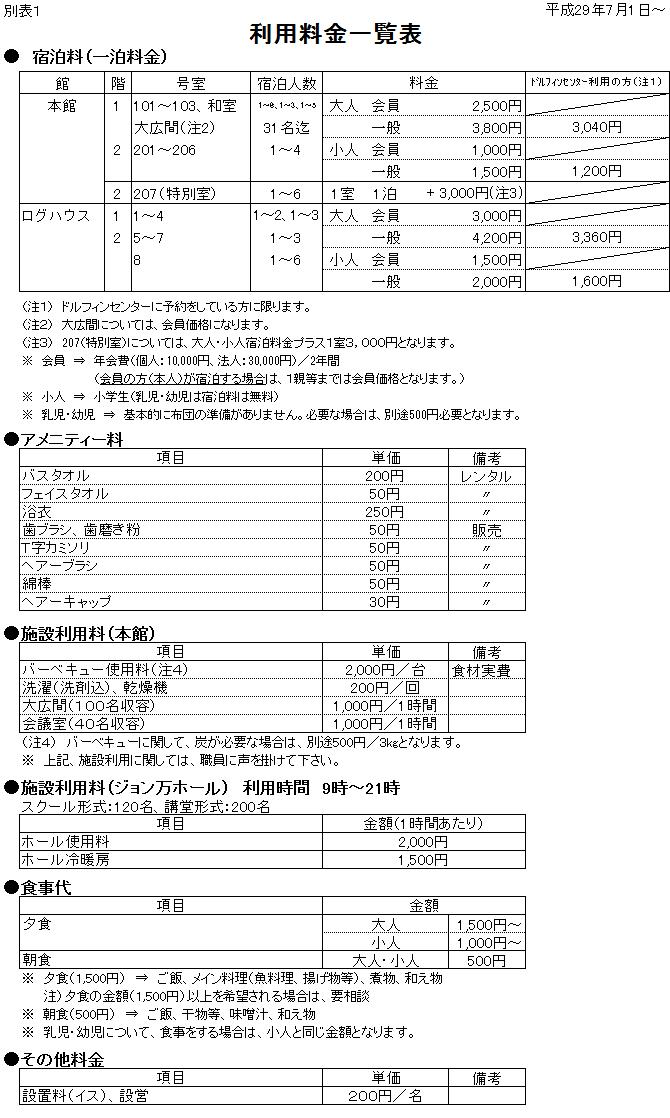 新料金表20170420
